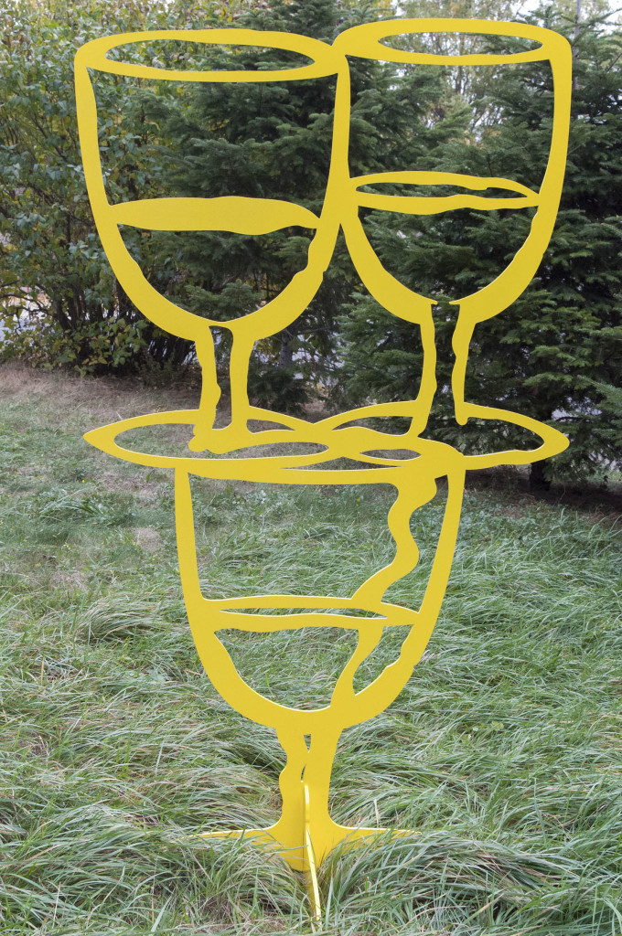 Fara titlu (Yellow), aluminiu vopsit electrostatic, 180x101x0.8 cm, 2015