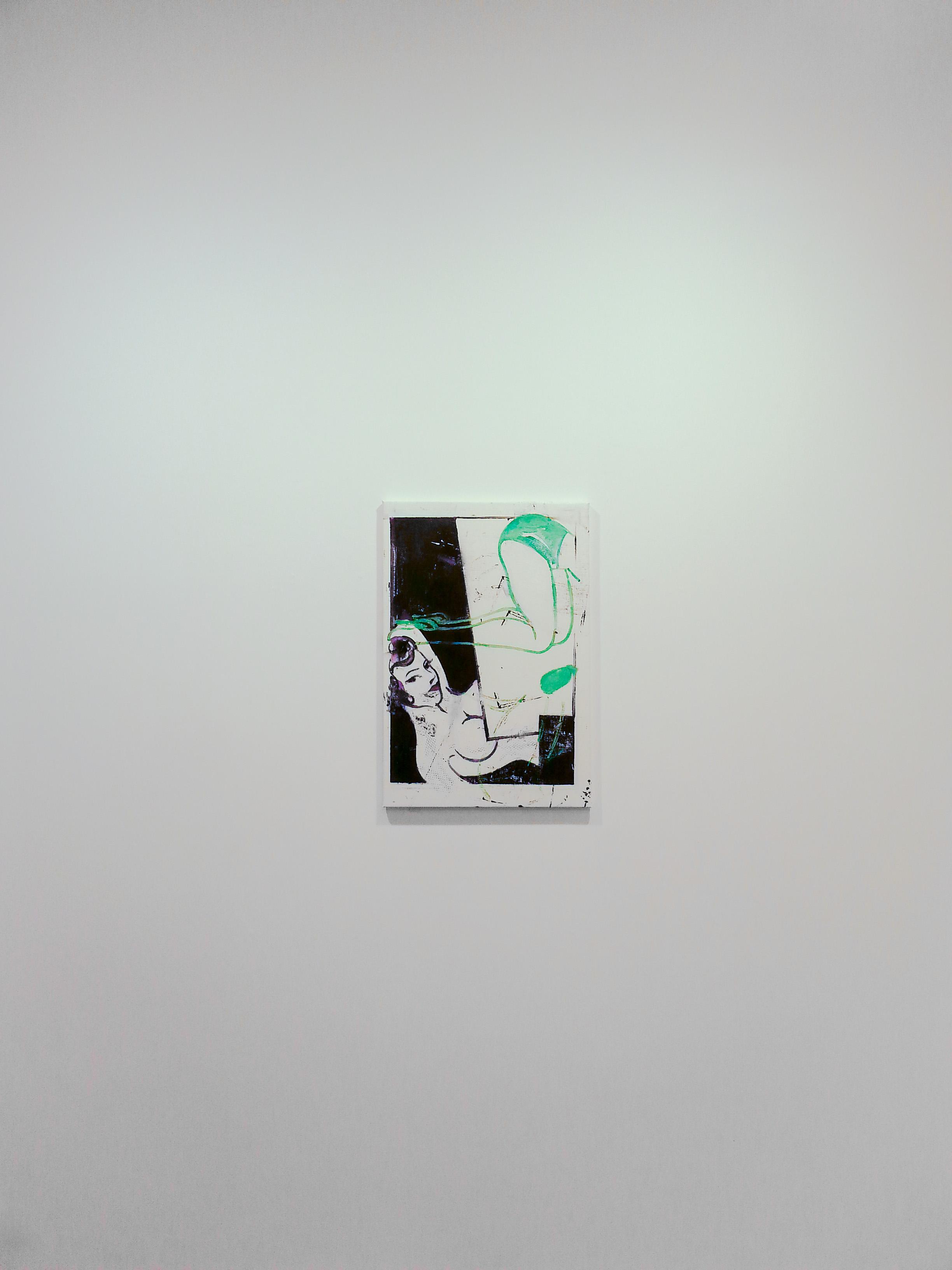 Razvan Boar, The modernist's gate, oil on canvas.