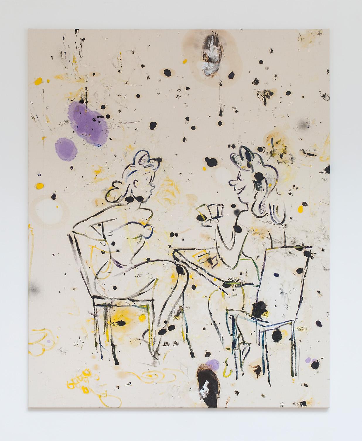 Razvan Boar, Candy drink, oil and spray paint on canvas, 217x169 cm, 2015, courtesy Ibid Galerry and Razvan Boar