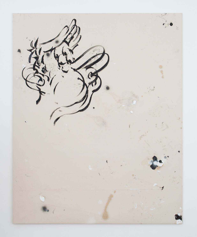 Zuni, 212x170, 2014, oil and spray paint on canvas